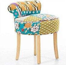 Hirtenschminke Rückenlehnen-Ankleidehocker Nagel für Schuhputzer Sofa casual runden Hocker Sofa Hocker (Farbe wahlweise freigestellt) ( farbe : #1 )