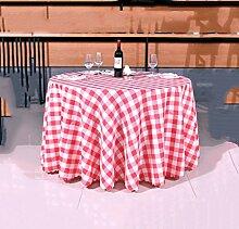 Hirtenstil Tischdecken Picknicktisch Tischmatten runde Tischdecken ( Farbe : Rot , größe : 2.4m )
