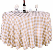 Hirtenstil Tischdecken Picknicktisch Tischmatten runde Tischdecken ( Farbe : Braun , größe : 3m )