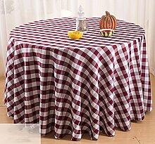 Hirtenstil Tischdecken Picknicktisch Tischmatten runde Tischdecken ( Farbe : Lila , größe : 2.6m )