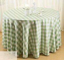 Hirtenstil Tischdecken Picknicktisch Tischmatten runde Tischdecken ( Farbe : Grün , größe : 1.8m )