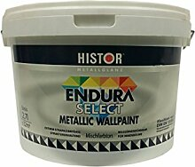 Histor Metallglanz Endura select Wandfarbe Silber