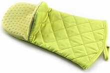 Hitzebeständig, Baumwolle und Silikon Backofen & Grill Mitts Handschuhe, weich leicht zu bedienen gelb