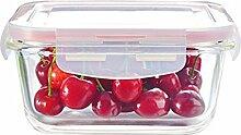 hitzebeständige glas mittagessen, mikrowelle - box, die schale, mikrowelle, abteil, obst fresh-keeping box, lunch box,rosa / m2 / 570ml