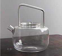 Hitzebeständige Glas-Teekanne Farbe mit großer