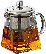 Hitzebeständige Glas Teekanne mit Edelstahl
