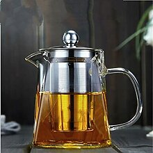 Hitzebeständige Glas Teekanne mit Edelstahl Tee