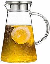 Hitzebeständiger Kalter Glas Krug mit Deckel