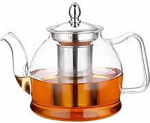 Hiware Glas-Teekanne mit herausnehmbarem Teesieb,