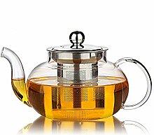 Hiware Gute Glas-Teekanne mit abnehmbarem