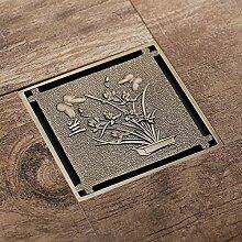 Hiwenr Euro Stil Antik Messing 10 * 10 cm Platz