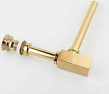 Hiwenr Gold Messing Pop-Up Becken Abfluss,