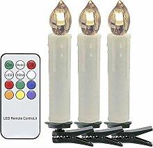 HJ® 30er Weinachten LED Kerzen Lichterkette
