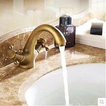 HJ-Kupfer antik europäischen Stil retro heißen Bad Waschbecken Waschtischarmatur
