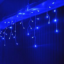 HJ® LED Eisregen Lichterkette Lichtervorhang für