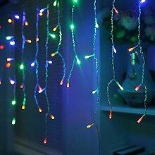 HJ® LED Lichterkette Eisregen mit 200 RGB LEDs