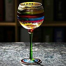 HJB Farbige Zeichnung Große Champagnerglas