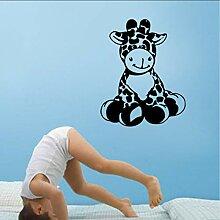 (Hjcmhjc) Cartoon Giraffe Kinder Vinyl Wandkunst