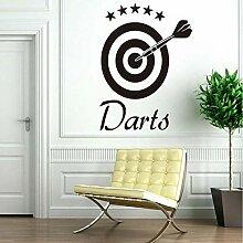 Hjcmhjc Darts Wandtattoo Home Aufkleber Ziel Sport