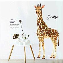 (Hjcmhjc) Giraffe Wandaufkleber Aquarell Drucken