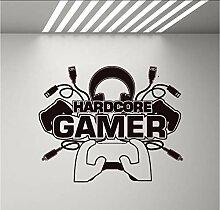 (Hjcmhjc) Hardcore Gamer Aufkleber Aufkleber