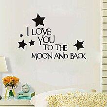 Hjcmhjc Ich Liebe Dich Bis Zum Mond Und Zurück