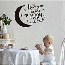 (Hjcmhjc) Ich Liebe Dich Mond Und Sterne Cartoon