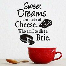 Hjcmhjc Küche Wandaufkleber Süße Träume Käse