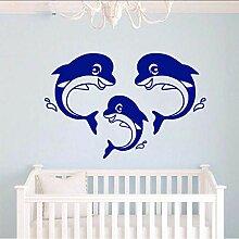 (Hjcmhjc) Nette Delphin Familie Wandkunst