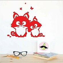 (Hjcmhjc) Nette Katzen Schmetterling Cartoon