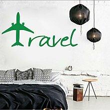 (Hjcmhjc) Reise Flugzeug Dekor Wandkunst