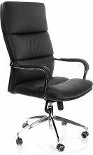 hjh OFFICE 600700 Bürostuhl Chefsessel BRUNELLO 20 Kunstleder schwarz, dick gepolstert, viele Einstellungen, hohe Rückenlehne, Schreibtischstuhl ergonomisch, Büro Sessel, Drehstuhl, feste Armlehne