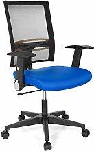 hjh OFFICE 653740 OFFICE R8 Bürostuhl, Stoff, blau