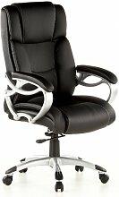 hjh OFFICE 668400 Bürostuhl / Chefsessel Triton 400 PU, schwarz / silber
