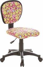 hjh OFFICE 670165 Kinderschreibtischstuhl KIDDY TOP Simleys Stoff pink/gelb
