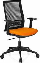 hjh OFFICE 710664Net M21Bürostuhl, Mesh Gewebe schwarz/orange
