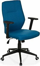hjh OFFICE 719740 MATTEO Bürostuhl Stoff, blau
