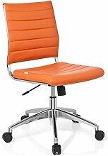 hjh OFFICE 720011 Bürostuhl Drehstuhl Trisha Kunstleder, orange