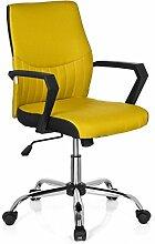 hjh OFFICE 723020 Bürostuhl SMOOTH Stoff Gelb Home-Office Schreibtischstuhl mit Armlehnen