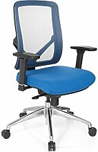hjh OFFICE 731170 SONIK Profi Bürostuhl, Stoff, blau