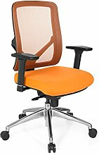 hjh OFFICE 731210 SONIK Profi Bürostuhl, Stoff, orange