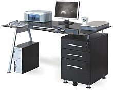 hjh OFFICE Schreibtisch/Computertisch Nero