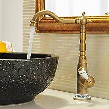 HJHET Antike Küche das Becken Sitzbank fließend Warm-/Kaltwasser Becken zu drehen.