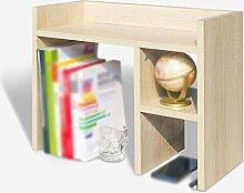 HJHY® Bücherregal Buchständer 50 * 22 * 40 Cm Bücherregal Desktop Storage Rack Regal Holz Farbe Bequeme Lagerung