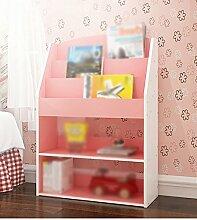 HJHY® Bücherregal Buchständer 62.4 (lang) * 24 (Breite) * 89 (hoch) Cm Schlafzimmer Bücherregal Wohnzimmer Regal Creative Cut Off Pink Blau Bequeme Lagerung ( Farbe : #3 )