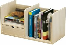 HJHY® Bücherregal, Massivholz Holz Farbe Bürobedarf Bequeme Lagerung