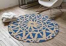 hjhy® Teppich rund, Lounge Nordic Bedroom einfach