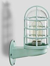 HJHY® Wandleuchte, Nordic Creative Restaurant Lichter Treppen Balkon Bar Lichter Amerikanischen Stil Industrielle Winde Eisen Wasserleitungen Wandleuchte E27 Einfach zu säubern ( Farbe : Grün )