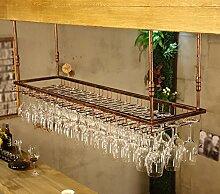 HJHY® Weinregal Rotweinglas Regale auf den Kopf Getränkehalter Einfach Haushalt Weinglas Rack Suspension Becher Geschäft/Zuhause/Bar (Farbe : #1, größe : 60*35cm)