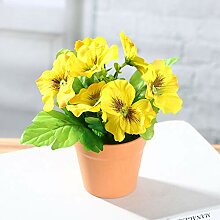 HJKGSVdv Künstliche Blume Stiefmütterchen